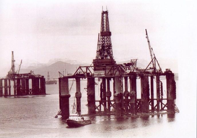 HISTORIE, FØRSTE BORING STARTER, forsidebilde, Fra Blikken til Nordsjøen