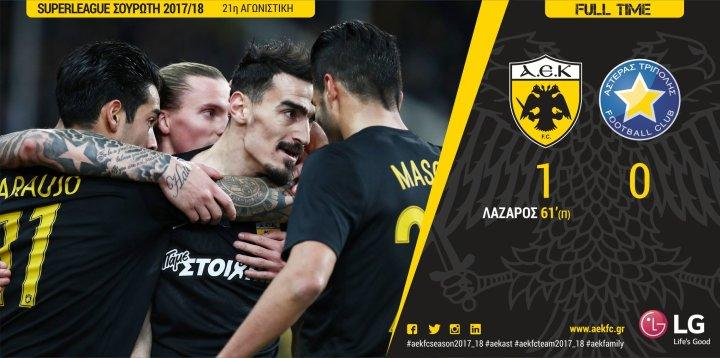 Η ΑΕΚ νίκησε τον Αστέρα Τρίπολης με 1-0