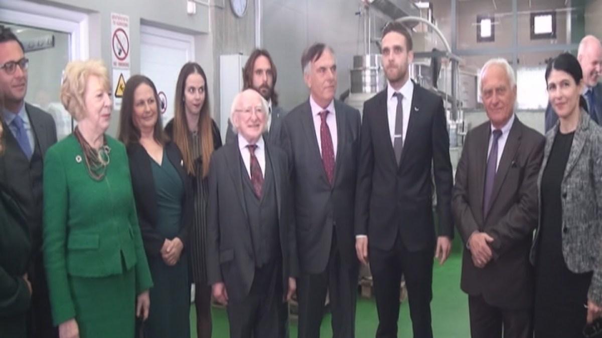 Στην Κορινθία ο πρόεδρος της Ιρλανδίας