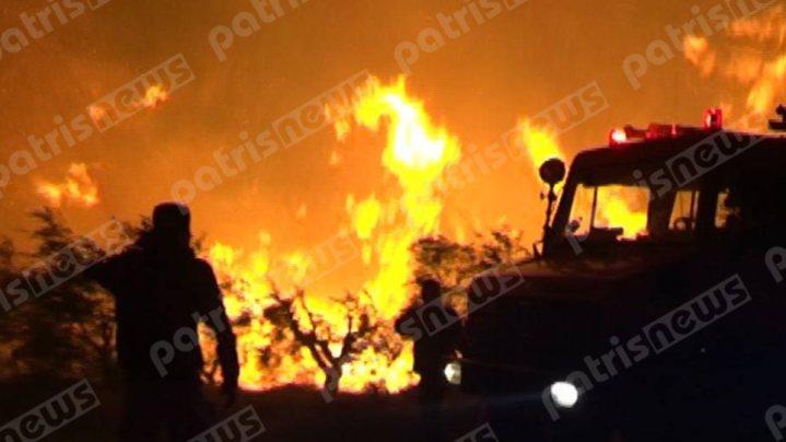 Ανεξέλεγκτα τα μέτωπα στην Ηλεία – Ολονύχτια η μάχη με τις φλόγες