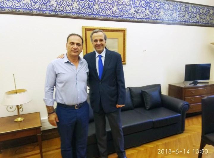 Συνάντηση του Προέδρου του Επιμελητηρίου Παν. Πιτσάκη και κ. Σαμαρά
