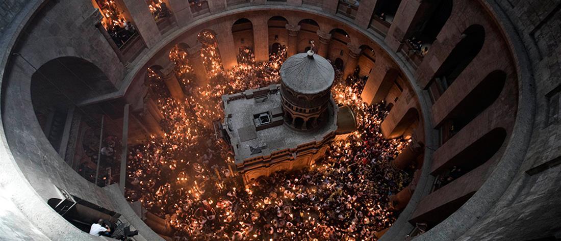 Άγιο Φως: Με λαμπρότητα η τελετή Αφής στον Πανάγιο Τάφο