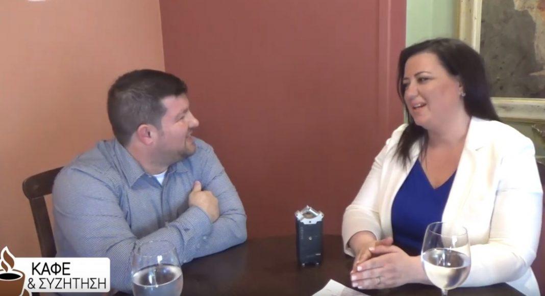 Καφές και συζήτηση με την υποψήφια Ευρωβουλευτή του ΠΑΤΡΙΕ
