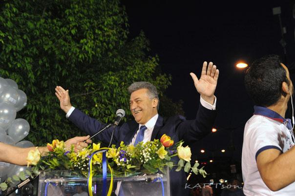 Φωτογραφίες από την ομιλία του Βασίλη Νανόπουλου, σε μεγάλο αριθμό ψηφοφόρων του.