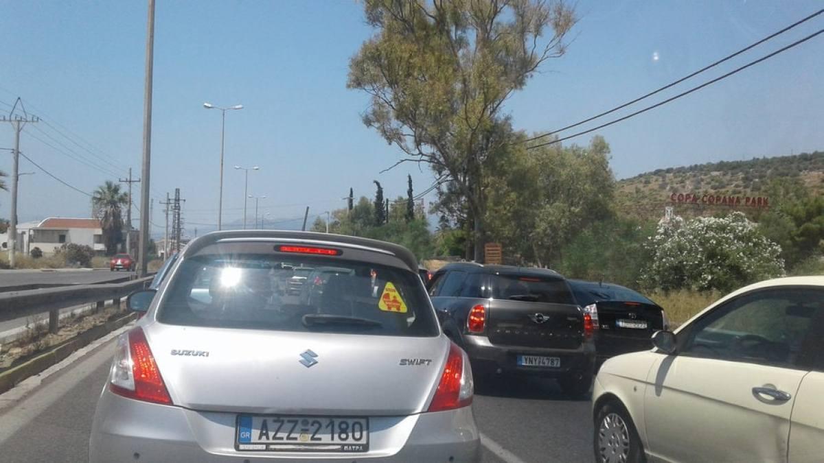 Θυμήθηκαν να κάνουν έργα στην Αθηνών Κορίνθου ανήμερα εκλογών!