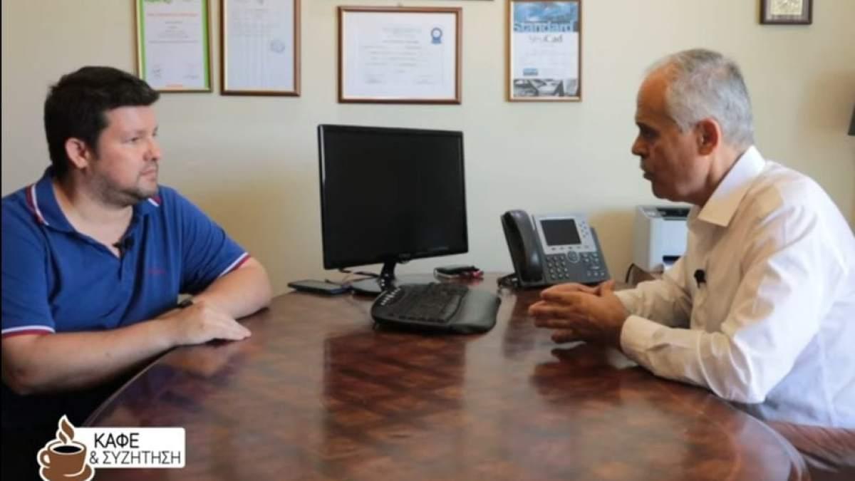 Καφές και συζήτηση με το Νίκο Ταγαρά