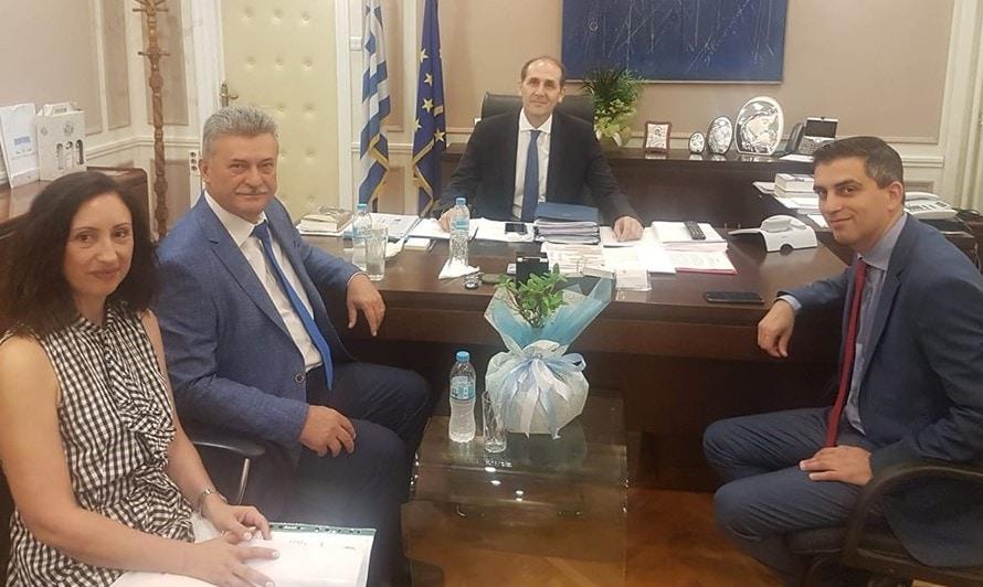 Εξαιρετική η συνεργασία του Βασίλη Νανόπουλου με το Χρίστο Δήμα για τα προβλήματα της Κορίνθου