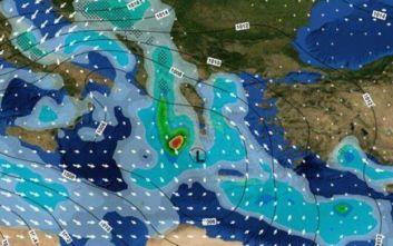 Προ των πυλών η κακοκαιρία «Διδώ»: Βροχές, καταιγίδες, θυελλώδεις άνεμοι και χιόνια
