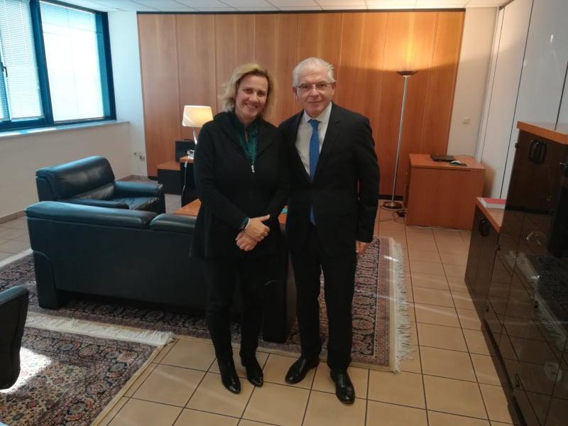 Ενημερωτική Συνάντηση της Μαρίας Ελένης (Μαριλένας) Σούκουλη Βιλιάλη με τον νέο Πρόεδρο του ΕΛΓΑ κ. Αντρέα Λυκουρέντζο