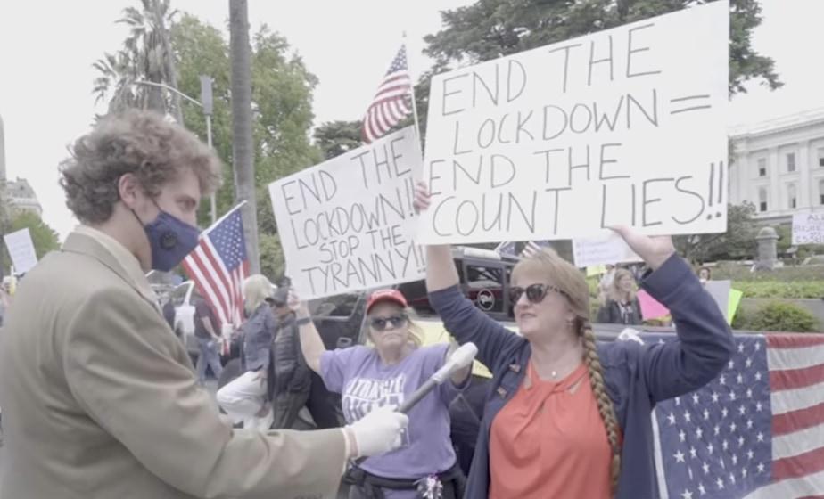 Αμερικάνοι διαδηλώνουν κατά της καραντίνας