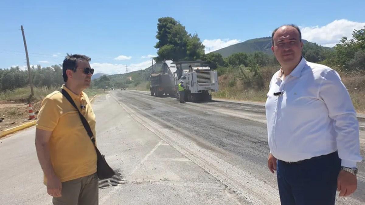 Εργασίες συντήρησης στην εθνική οδό Κορίνθου – Αργους, παρά τον Αγιο Βασίλειο