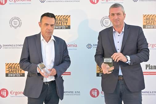 ΟΛΥΜΠΙΑ ΟΔΟΣ: Χρυσό και Αργυρό βραβείο στα Health & Safety Awards 2020