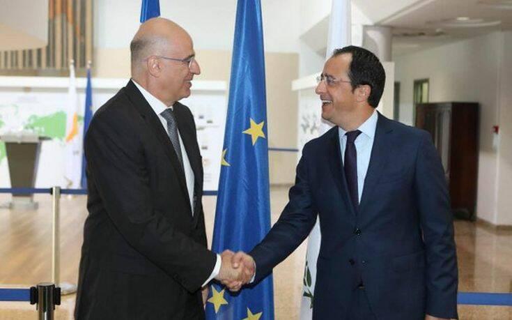 Σε διαρκή συντονισμό Ελλάδας – Κύπρου συμφώνησαν Δένδιας και Χριστοδουλίδης