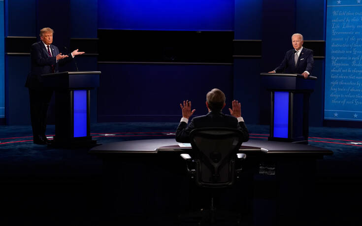 «Ενοχλημένοι» από το χαοτικό debate Τραμπ – Μπάιντεν οι τηλεθεατές