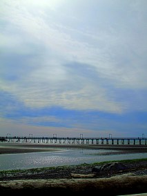 Velvety Sky Over The Pier - Photography