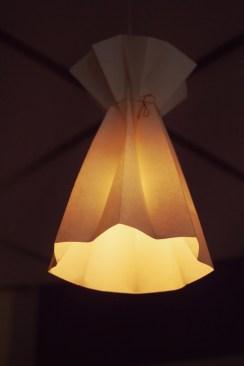 Origami paper lamp