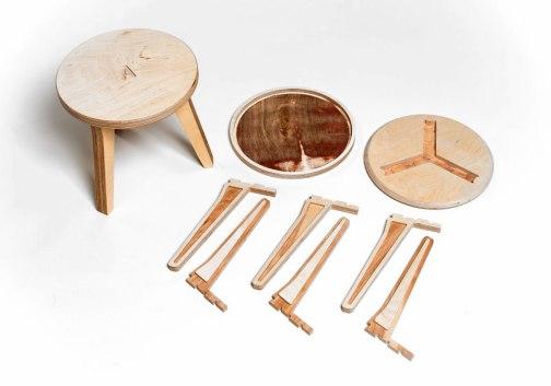 Opendesk CNC milled Edie stool