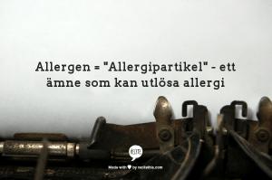 allergen är allergipartiklar
