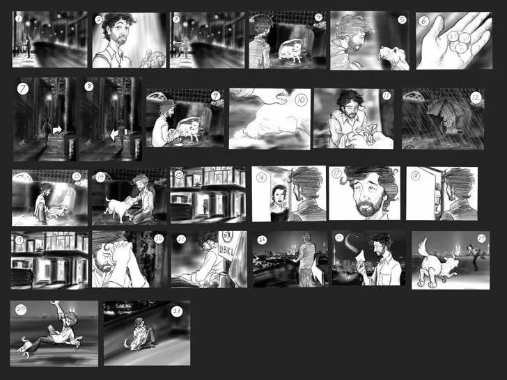 Occassionally, Augustus gets roped in to create storyboards for corporations and groups. This one was for Mastermind Group. Image credit: Augustus Tan