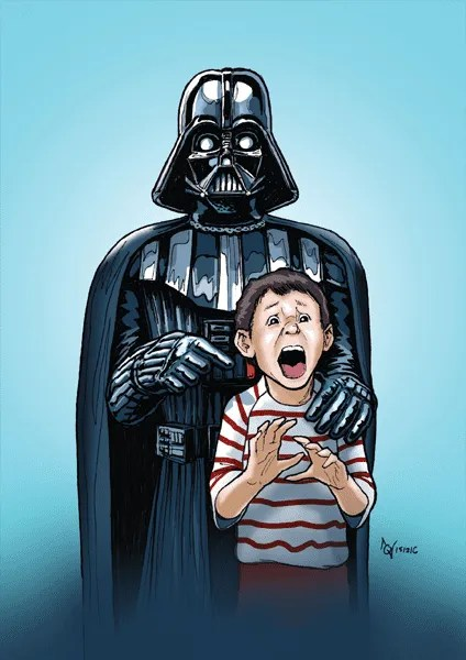 A mixture of ink on paper and digital colouring, Nicholas Quah shows how Darth Vader captures the imagination of people through this simple yet gorgeous artwork.