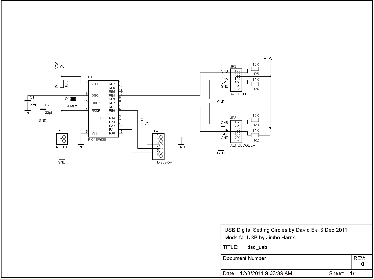 hight resolution of usb digital setting circles schematic