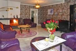 zdjęcie przedstawia salon z kominkiem w luksusowej posiadłości w okolicy Malborka