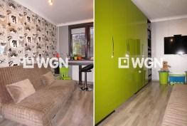 na zdjęciu dwa pokoje w ekskluzywnym apartamencie do sprzedaży w Legnicy
