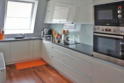 luksusowo wyposażona kuchnia w apartamencie w Szczecinie na sprzedaż