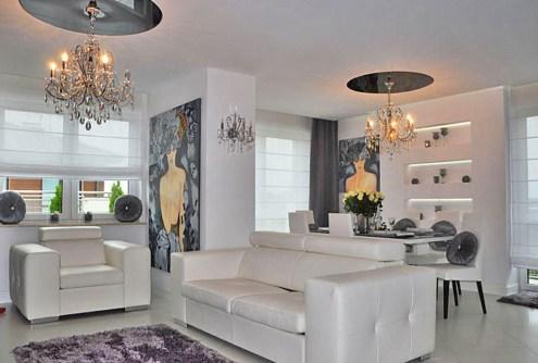 zdjęcie przedstawia salon w apartamencie do sprzedaży w Warszawie