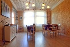 widok z dwóch perspektyw na pokó w luksusowych apartamencie w Legnicy do sprzedaży