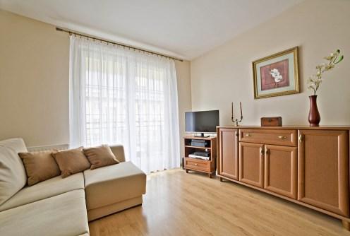 na zdjęciu salon w luksusowym apartamencie do sprzedaży w Olsztynie