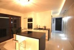 widok na komfortowy i nowoczesny aneks kuchenny w apartamencie na wynajem w Szczecinie