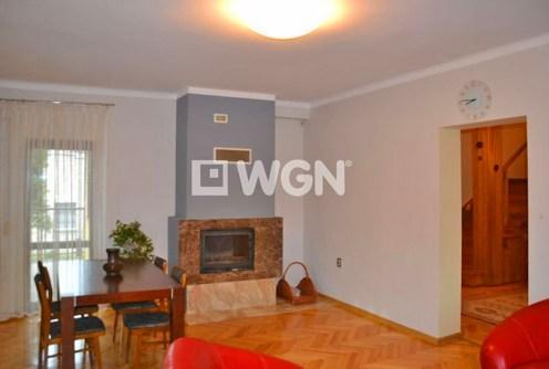 na zdjęciu salon z kominkiem w luksusowym apartamencie do wynajęcia w Sosnowcu