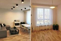 widok na salon znajdujący się w luksusowym apartamencie do sprzedaży w Białymstoku