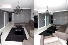 widok na salon w ekskluzywnym apartamencie w Białymstoku do wynajęcia