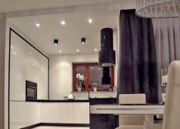 nowocześnie urządzona kuchnia w apartamencie do sprzedaży w Szczecinie