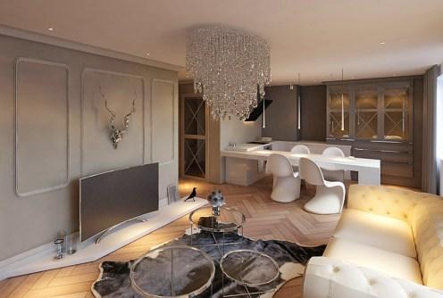zdjęcie prezentuje luksusowe wnętrze ekskluzywnego apartamentu do sprzedaży w Głogowie