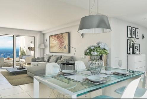 zdjęcie prezentuje ekskluzywne wnętrze w apartamencie na sprzedaż w Hiszpanii