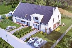 ujęcie z lotu ptaka pokazujące apartamentowiec w Bolesławcu, w którym znajduje się sprzedawany, ekskluzywny apartament