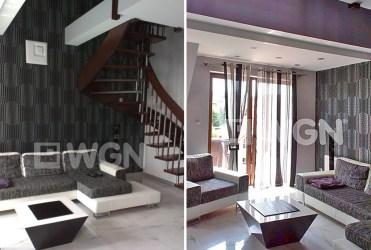 salon sfotografowany z dwóch róznych perspektyw w apartamencie do sprzedaży w Szczecinie