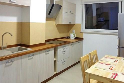 zdjęcie prezentuje luksusową kuchnię w ekskluzywnym apartamencie do wynajmu w Szczecinie