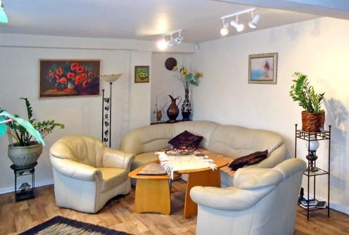 zdjęcie przedstawia luksusowy salon w apartamencie na sprzedaż w Łodzi