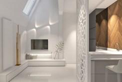 zdjęcie prezentuje salon w komfortowym apartamencie na sprzedaż w Szczecinie