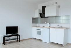 zdjęcie przedstawia nowoczesną kuchnię w apartamencie w Tczewie na sprzedaż