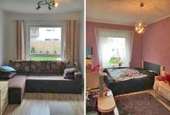 zdjęcie przedstawia dwa pokoje w luksusowym apartamencie w Szczecinie do wynajęcia