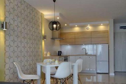zdjęcie przedstawia nowoczesną kuchnię w luksusowym apartamencie do wynajęcia w Szczecinie