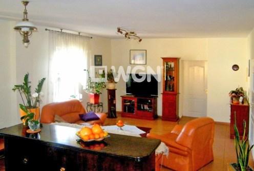 na zdjęciu komfortowy salon w ekskluzywnej willi do sprzedaży w Głogowie