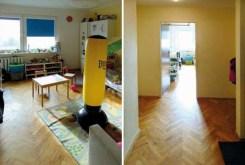 po prawej pokój dziecięcy, po lewej przedpokój w ekskluzywnym apartamencie w Katowicach na wynajem