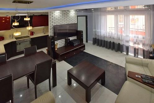 nowoczesny salon w luksusowym apartamencie do sprzedaży w Suwałkach