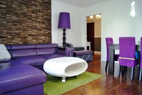 komfortowo urządzony salon w luksusowym apartamencie do sprzedaży w Gorzowie Wielkopolskim